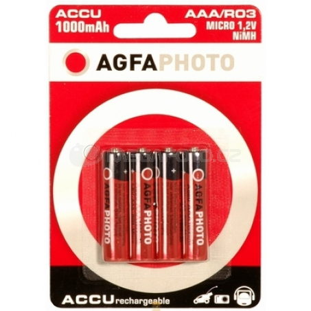 AgfaPhoto Batterijen 1x4 AgfaPhoto NiMh Micro 1000 mAh