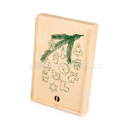 Dřevěné vánoční ozdoby, 60 kusů