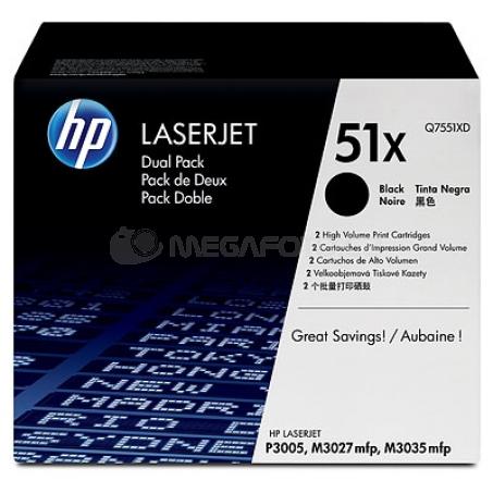 HP Toner Q7551XD black 51X Twin Pack