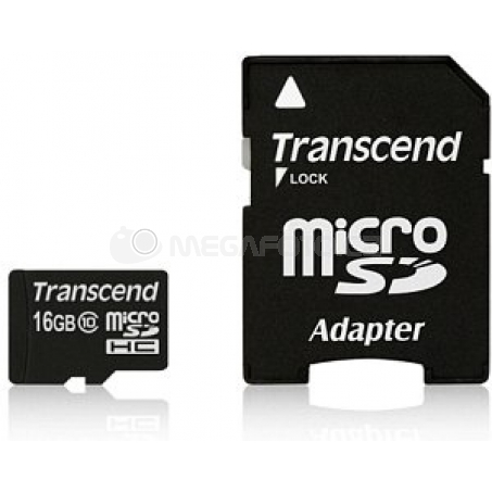 Transcend MicroSDHC Card 16GB + Adapter / Class 10 UHS-I