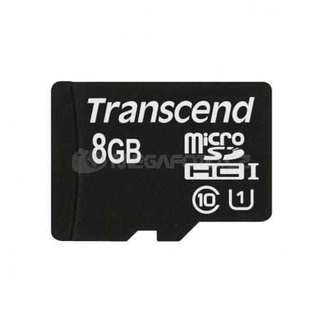 Transcend MicroSDHC Card 8GB + Adapter / Class 10 UHS-I