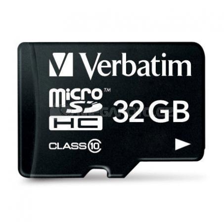 Verbatim microSDHC 32 GB (44083) + SD adapter