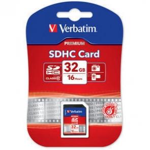 Verbatim SDHC Card 32GB Class 10