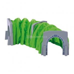 Vláčiková dráha - tunel, depo, věž, výhybka