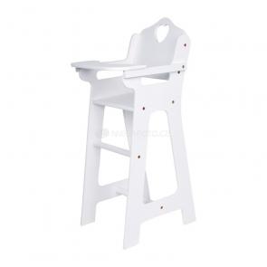 Stolička pre bábiky biela