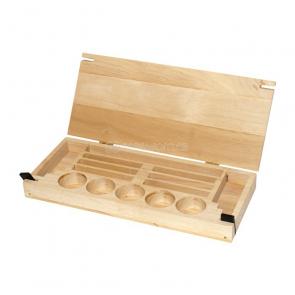 Drevená krabička na korálky
