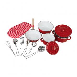 Dětské nádobí červené